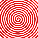 Rood wit rond abstract draaikolk hypnotic spiraalvormig behang vector illustratie