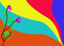 Rood, yelow, groen, blauw, tosca en een andere van de Baground het multikleur stock illustratie