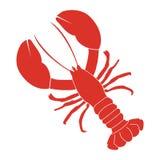 Rood zeekreeftpictogram, embleem Stock Foto