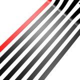 Rood zwart lijnbehang Royalty-vrije Stock Afbeelding