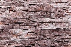 Roodbruine de textuur van de Steenmuur natuurlijke kleur als achtergrond Stock Afbeeldingen