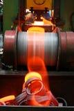 Roodgloeiend metaal Stock Foto