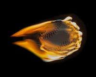 Roodgloeiend Vlammend Honkbal Royalty-vrije Stock Afbeelding