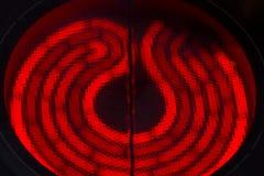 Roodgloeiende ceramische fornuizen van elektrisch kooktoestel stock foto