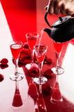 Roodgloeiende drank Stock Foto