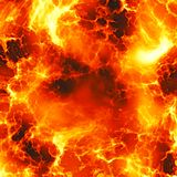 Roodgloeiende explosie Stock Afbeelding