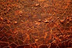 Roodgloeiende gebarsten aarde Royalty-vrije Stock Afbeeldingen