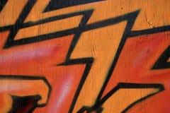 Roodgloeiende graffiti Stock Afbeeldingen