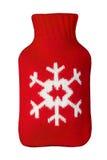 Roodgloeiende Heater Warmer met een teken van het sneeuwvloksymbool Stock Afbeelding
