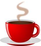 Roodgloeiende Koffiekop Stock Afbeelding
