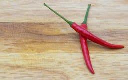 Roodgloeiende kruidige Spaanse peper Stock Fotografie
