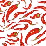 Roodgloeiende naadloze Spaanse peperpeper royalty-vrije illustratie