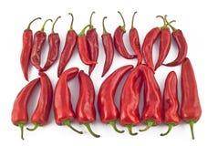 Roodgloeiende paprika stock afbeeldingen