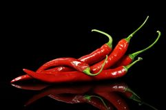 Roodgloeiende peper Stock Afbeeldingen