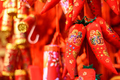 Roodgloeiende peper Stock Foto