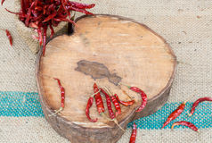 Roodgloeiende Spaanse peper Royalty-vrije Stock Afbeelding
