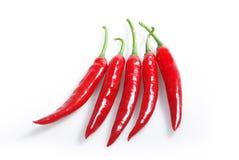 Roodgloeiende Spaanse peper peppe Stock Afbeeldingen