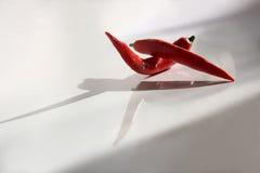 Roodgloeiende Spaanse peperpeper. Stock Afbeelding