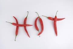 Roodgloeiende Spaanse peperpeper Royalty-vrije Stock Afbeeldingen