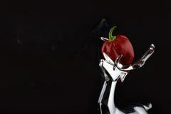 Roodgloeiende Spaanse peperpeper II royalty-vrije stock foto's