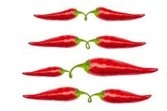 Roodgloeiende Spaanse peperpeper met het knippen van weg Stock Afbeelding