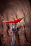 Roodgloeiende Spaanse peperpeper op witte achtergrond Kruidige Spaanse pepers Royalty-vrije Stock Foto's