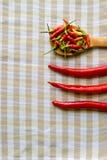 Roodgloeiende Spaanse pepers Royalty-vrije Stock Foto