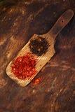 Roodgloeiende Spaanse pepers en chipotle Stock Foto