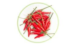 Roodgloeiende Spaanse peperspeper. Royalty-vrije Stock Afbeeldingen