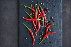 Roodgloeiende Spaanse peperspeper Stock Afbeelding