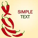 Roodgloeiende Spaanse pepersPeper Vector illustratie vector illustratie