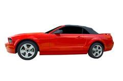 Roodgloeiende Sportwagen Stock Afbeelding