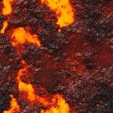Roodgloeiende vloeibare textuur Stock Foto's