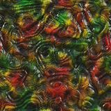 Roodgloeiende vloeibare textuur Stock Afbeelding