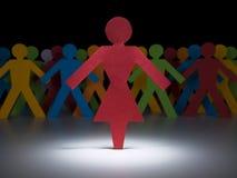 Roodgloeiende vrouw Stock Fotografie