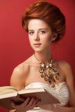 Roodharige edwardian vrouwen Stock Afbeeldingen