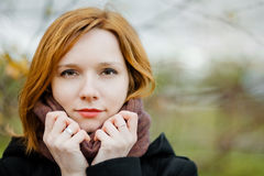 Roodharige vrouw Stock Foto's