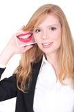 Roodharigemeisje het glimlachen Royalty-vrije Stock Fotografie