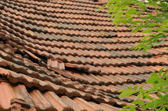 Roof 019. A view at an old roof Stock Photography