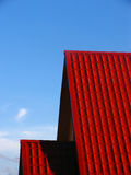 Roof. Red roof and blue sky Royalty Free Stock Images