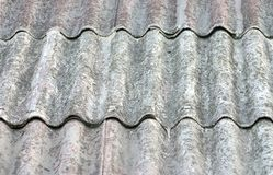 Roof. A textured wavy roof surface royalty free stock photography