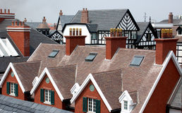 Roof. The roof of buildings of various styles Royalty Free Stock Photo