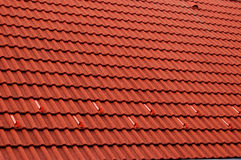 Roof. Detailed shot of a red roof top Royalty Free Stock Photos