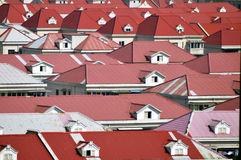 Roof. The roof of a large red Royalty Free Stock Photography
