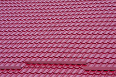 Roof. Board texture in red color Stock Photos