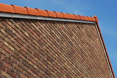 Roof. A roof in perspective with a blue sky Royalty Free Stock Image