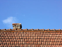 Roof. Image of a roof and chimney, countryside house Royalty Free Stock Photo