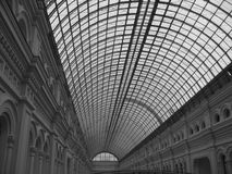 Roof. A glass semicircular roof of historic building Royalty Free Stock Photo