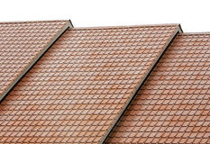 Roof. Simple style of roof, neat and orderly arranged Royalty Free Stock Photo