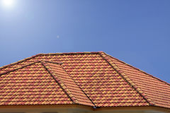 Roof. Simple style of roof, neat and orderly arranged Stock Photo